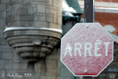 Stop - Quebec City, QC ... December 30, 2009 ... Photo by Rob Page III