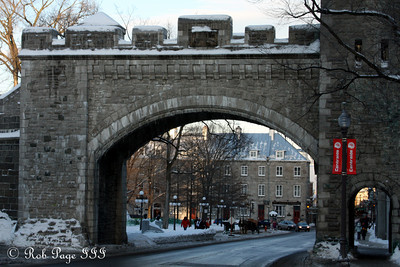 The main entranceway to Quebec City - Quebec City, QC ... December 30, 2009 ... Photo by Rob Page III