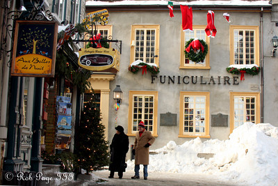 The Funiculaire - Quebec City, QC ... December 31, 2009 ... Photo by Rob Page III