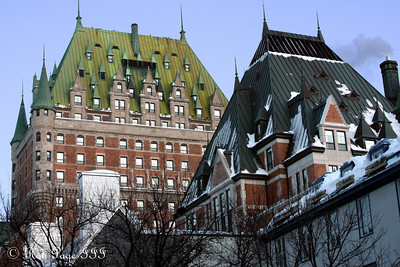 The Chateau Frontenac - Quebec City, QC ... December 30, 2009 ... Photo by Rob Page III