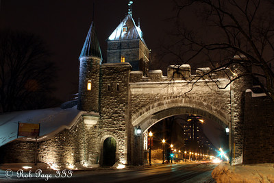 The main gate to Quebec City - Quebec City, QC ... December 30, 2009 ... Photo by Rob Page III