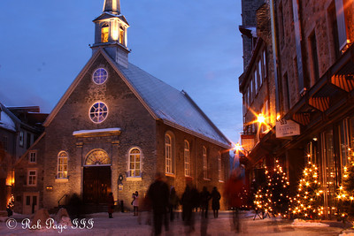Notre-Dame-des-Victoire - Quebec City, QC ... December 31, 2009 ... Photo by Rob Page III