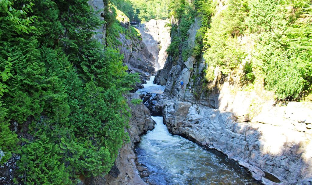 The gorge at Canyon Sainte-Anne