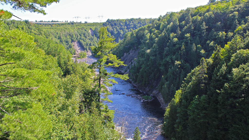 Views of the Quebec gorge