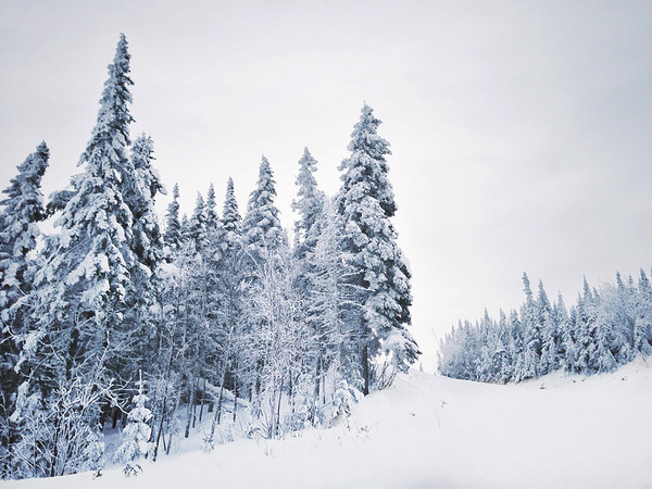 Winter Scene at Le Massif in Charlevoix