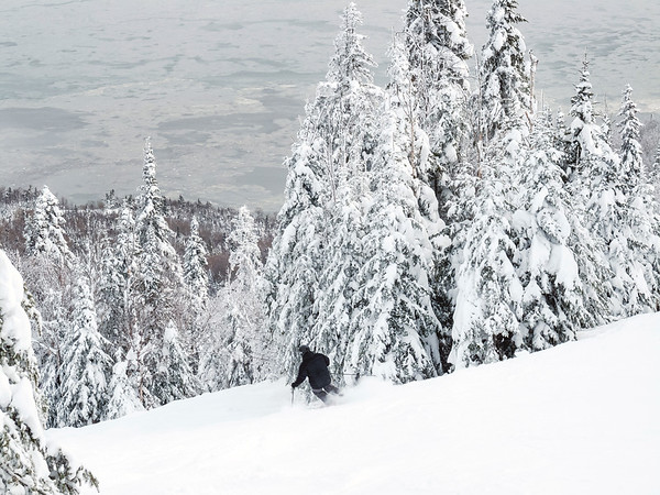 Skier at Le Massif in Charlevoix