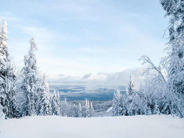 Winter scene in Charlevoix, Quebec, Canada
