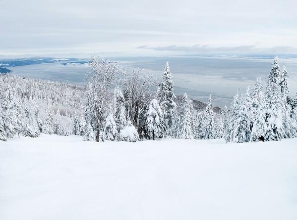 Winter Landscape in Charlevoix, Quebec