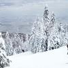 Snowboarder at Le Massif ski resort in Charlevoix, Quebec