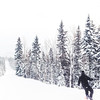 Snowboarding at Le Massif ski resort in Charlevoix, Quebec, Canada