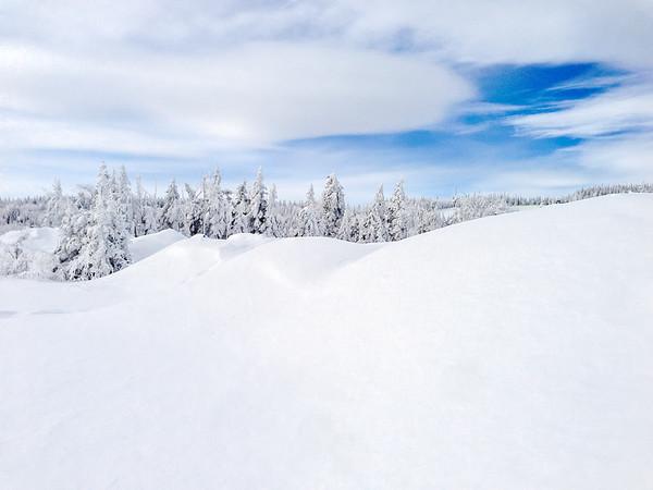 Snowy landscape in Charlevoix, Quebec