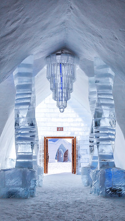 The Ice Hotel in the Quebec City region is the only ice hotel in North America.