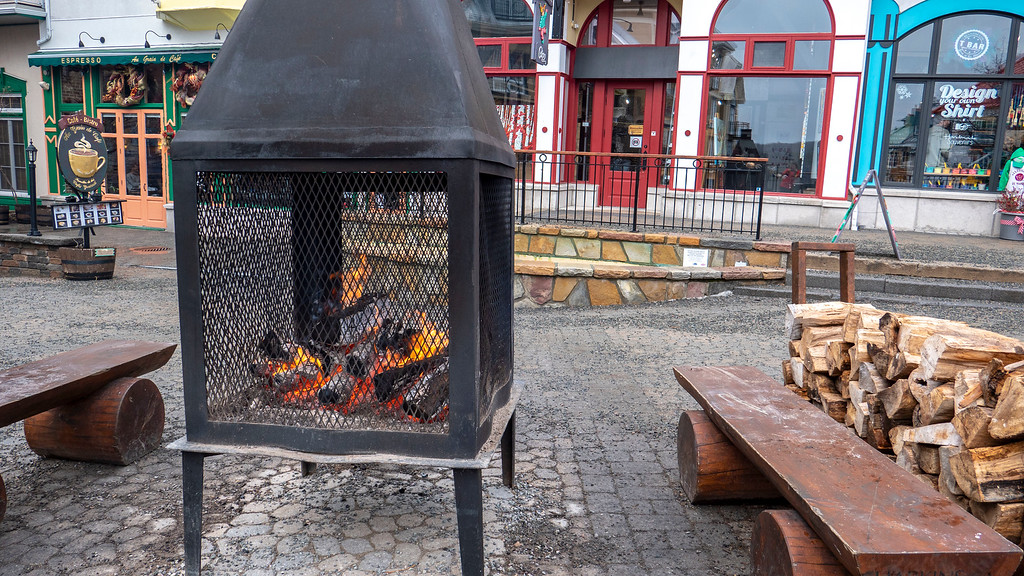 Mont Tremblant fire pits in the winter to stay warm - Mont Tremblant Winter Activities