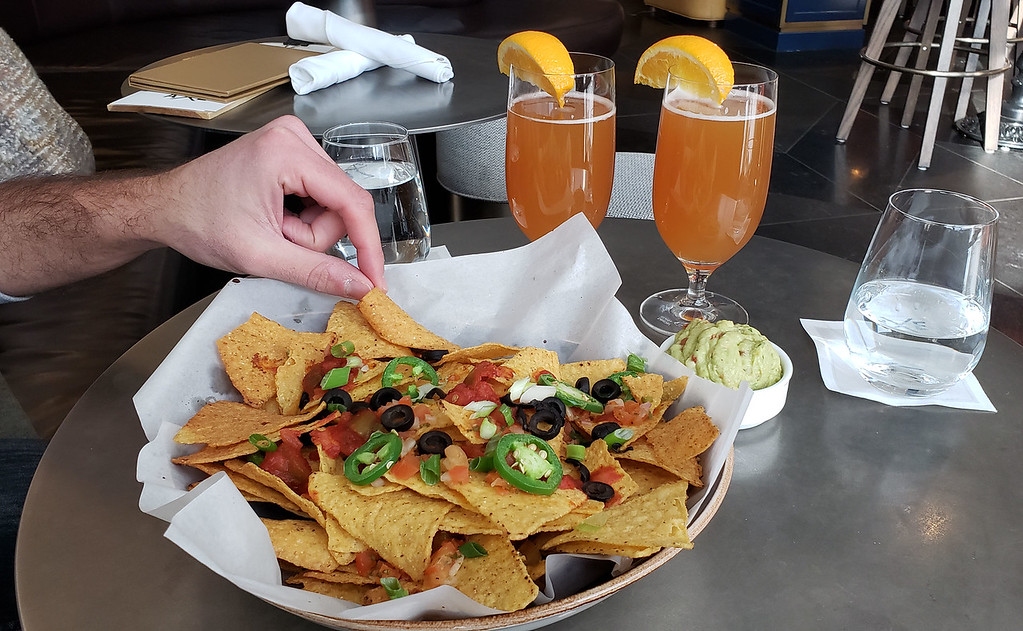 Fairmont Axe Lounge - Nachos and beer