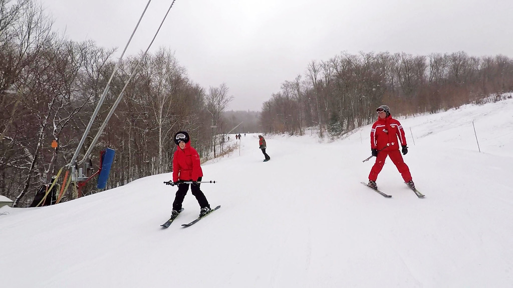 Learning how to ski at Mont Tremblant - Tremblant ski school- Mont Tremblant skiing - Mont Tremblant winter activities