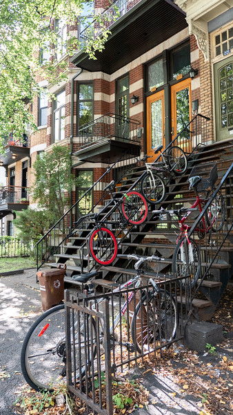 Montreal 3 day itinerary: Bicycles at a home in Montreal