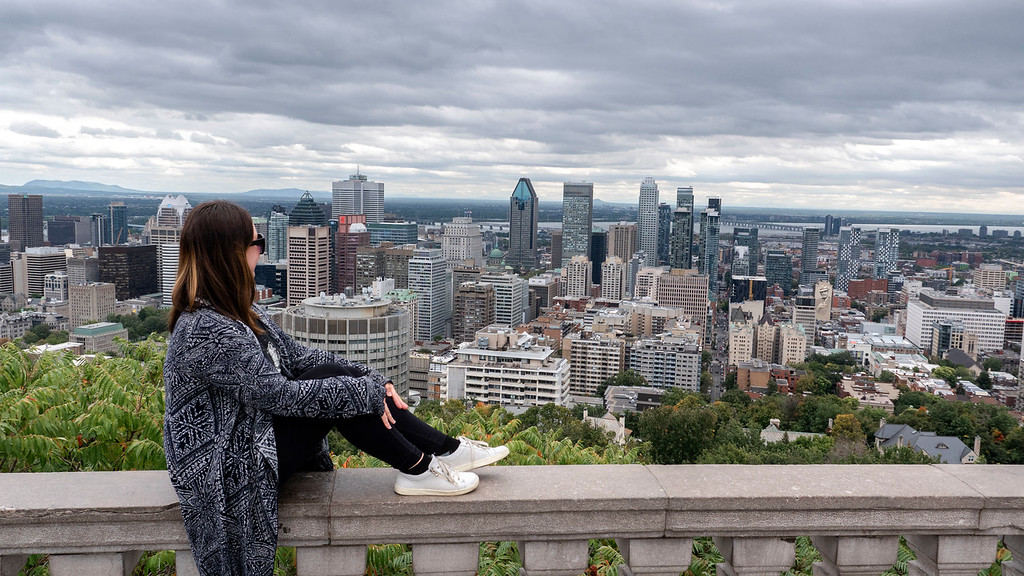 Montreal 3 day itinerary: Mont Royal - Views from the top of Montreal city scape