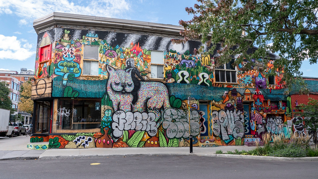 Montreal 3 day itinerary: Montreal street art - Murals in Montreal
