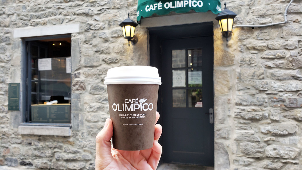 Coffee at Cafe Olimpico