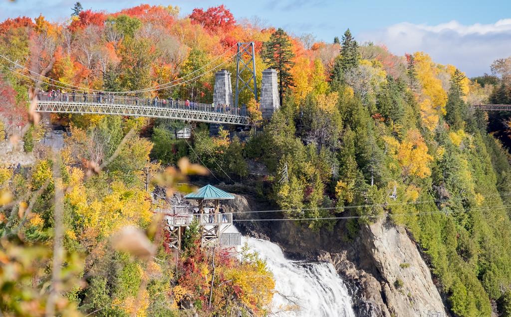 Montmorency Falls, Quebec City in autumn