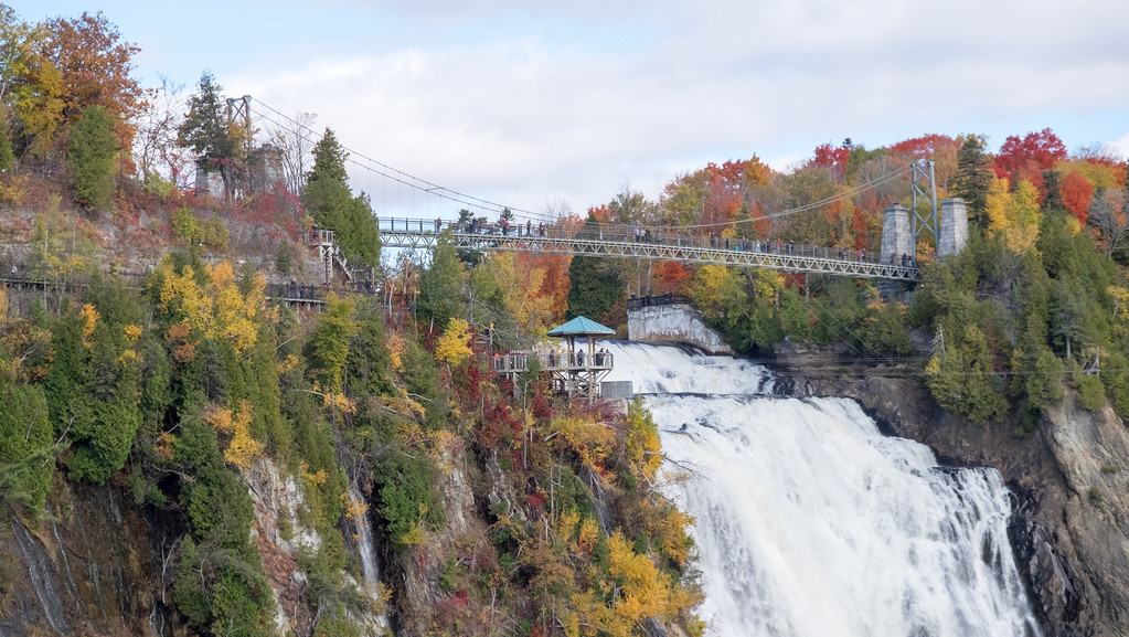 Visit Montmorency Falls, especially in autumn!