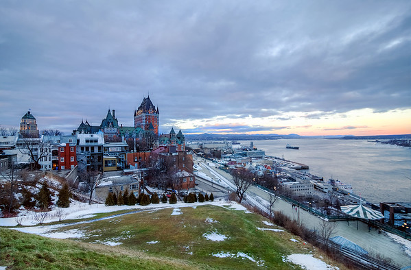 First time I see the grass in December in Quebec City