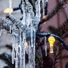 Icicles in a Christmas tree
