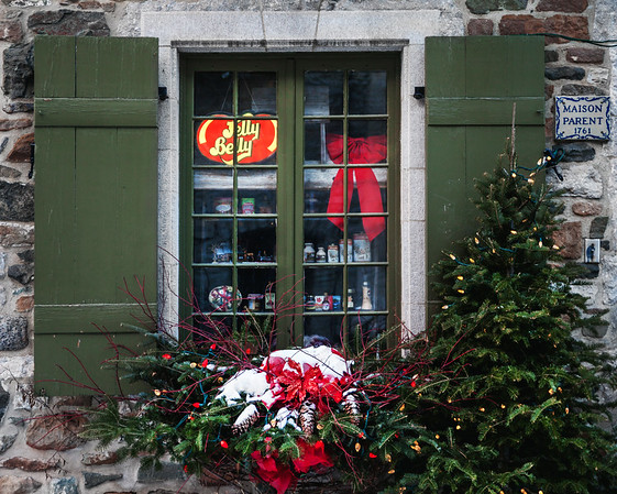 Window of a shop in Old Quebec City