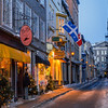 Street in Old Quebec City at dusk