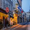 Street in Old Quebec City at dusk