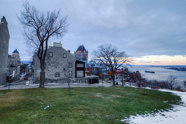 A December without winter in Quebec City, Canada