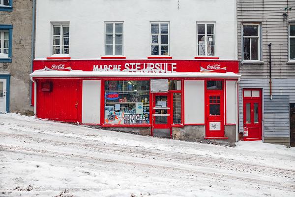 Marché Ste. Ursule in winter, Vieux-Québec
