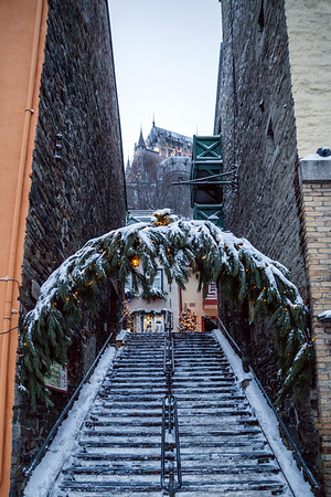 Stairs in Le Petit Champlain Quarter, Old Quebec City