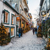 Christmas / Holiday time in Petit Champlain Quarter, Old Quebec City