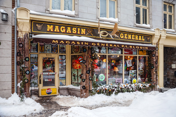 Magasin Général, a shop on rue Saint-Jean in Old Quebec
