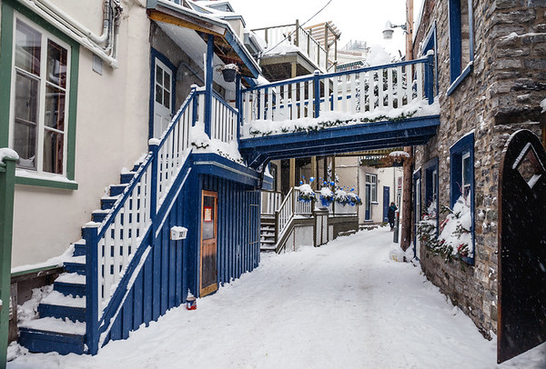 Alley in Old Quebec City