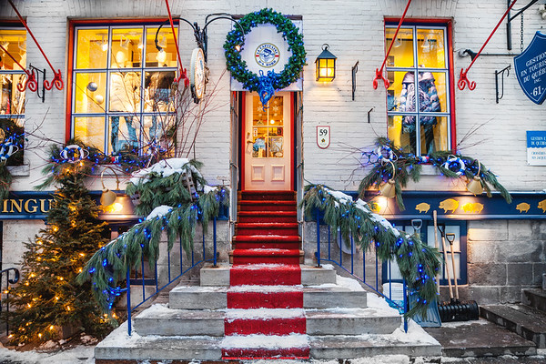 Shop in Le Petit Champlain in Old Quebec City, Canada