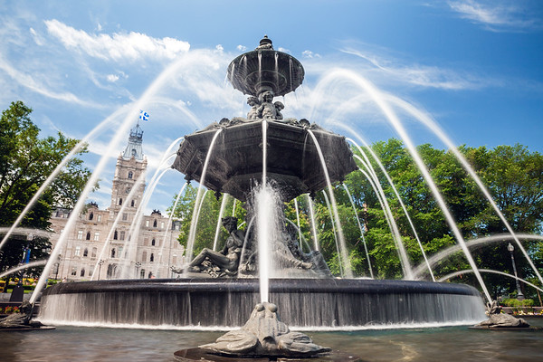 Fontaine de Tourny in front of the Parliament Building in Quebec City, Canada