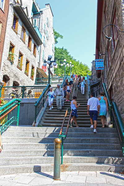 Breakneck Stairs, Breakneck Steps, or Escalier Casse-Cou - Quebec City Stairs