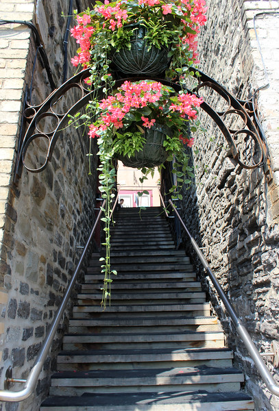 Pretty staircases of Old Quebec