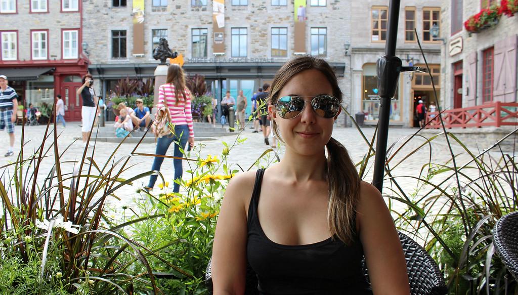 The patio of La Pizz, Place Royale, Quebec City
