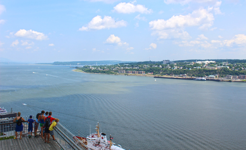 Governors' Promenade in Old Quebec - Views of the St Lawrence River