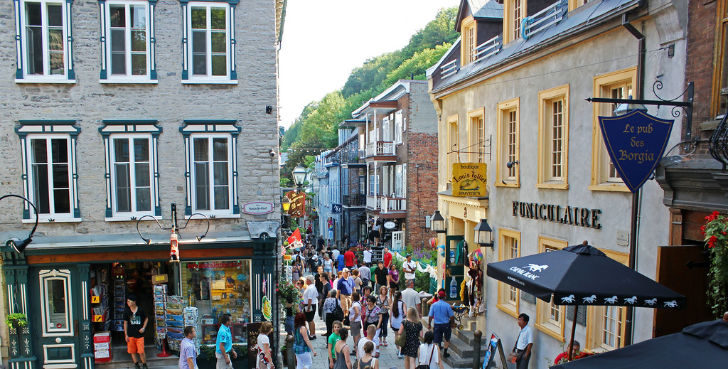 Quartier Petit Champlain from the Breakneck Stairs, Quebec City