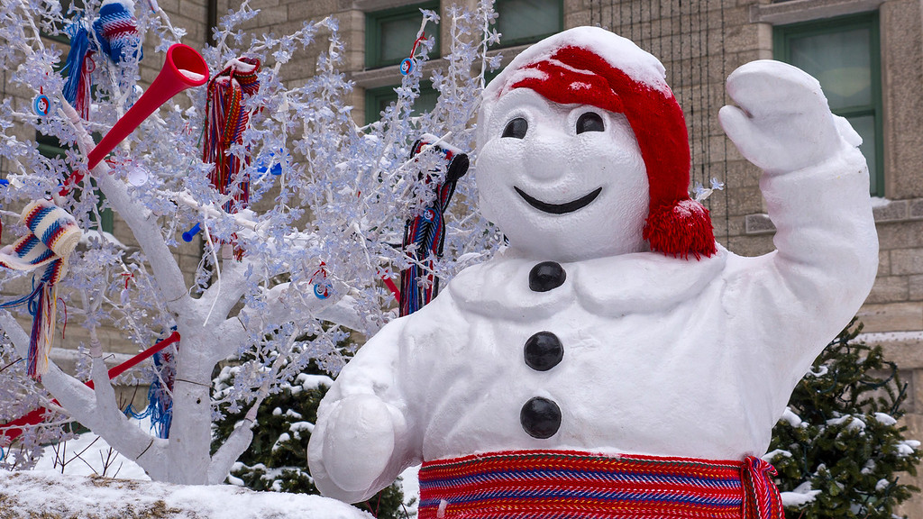 Quebec City in the winter: Carnaval de Quebec - Bonhomme de Neige