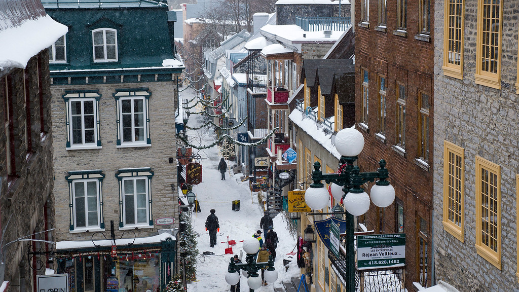 Old Quebec in the winter