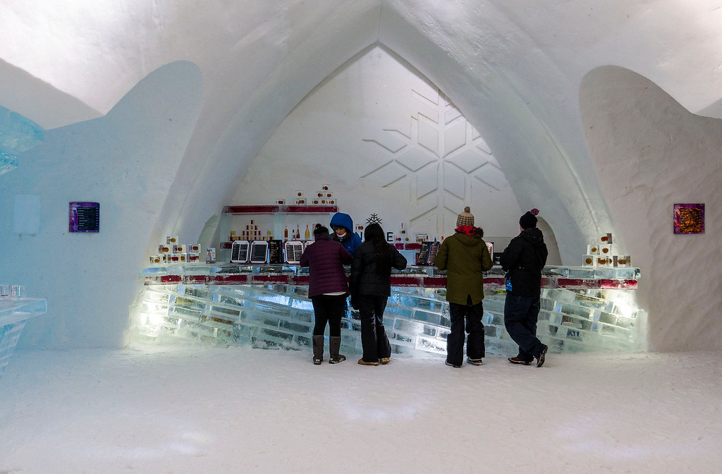 Things to do in Quebec City in winter: Hotel de Glace / Quebec Ice Hotel
