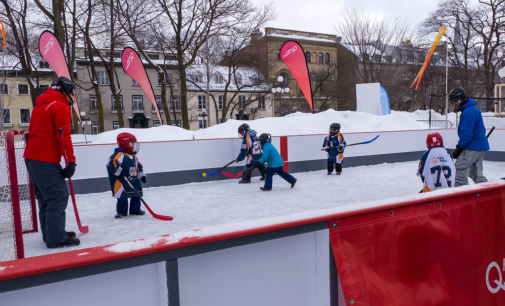 Skating rink at Quebec Winter Carnival - Quebec in winter