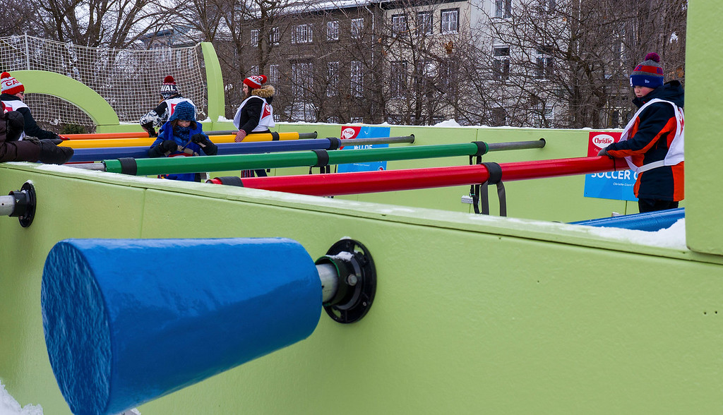Quebec City winter activities - Giant Foosball at Quebec Winter Carnival