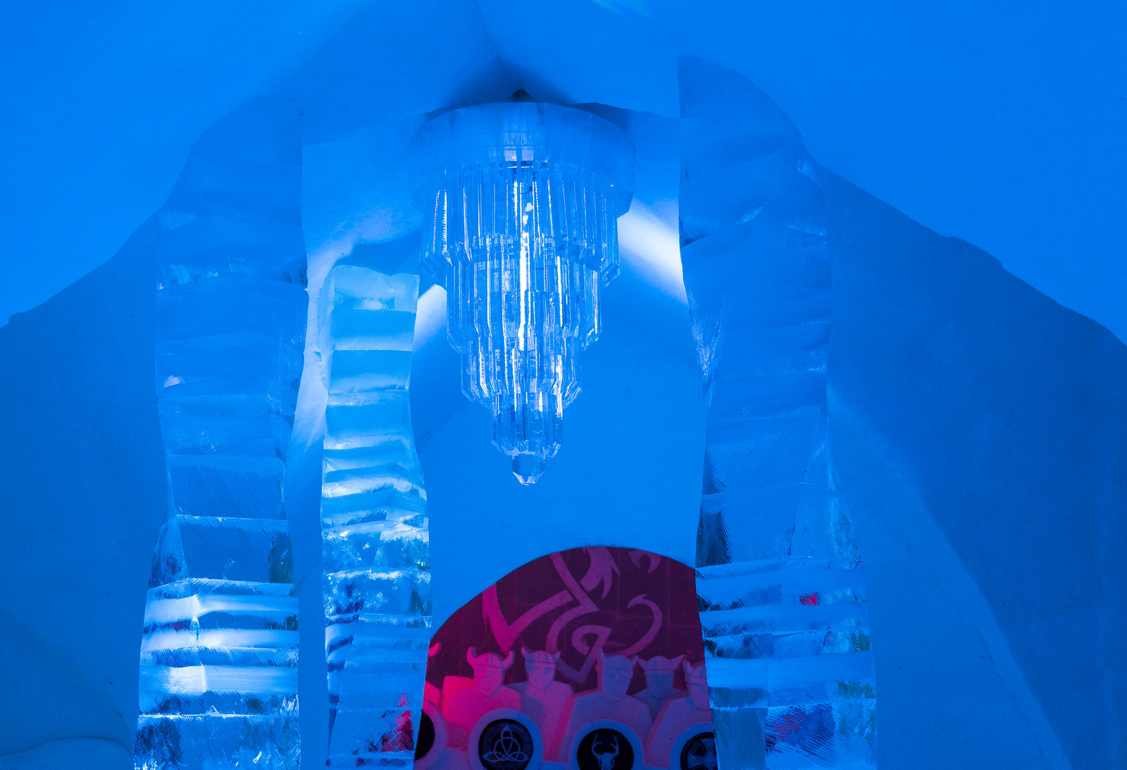 Ice Hotel Quebec: An Insider's Guide to Surviving the Night - Ice chandelier