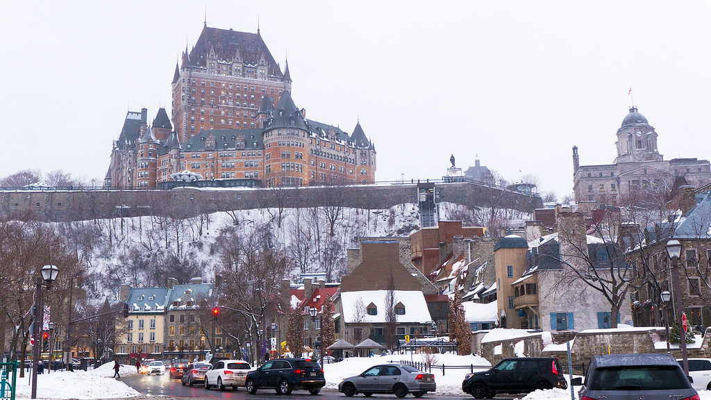 Quebec City in the winter: Old Quebec in winter time - Chateau Frontenac in winter